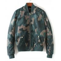 Quality Ribbed Collar Ladies Camouflage Bomber Jacket , Printed Ma1 Flight Bomber Jacket for sale