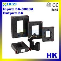China HEYI one button clamp on design current transformer HK 5-8000A with 5A output busbar type split core current transformer on sale