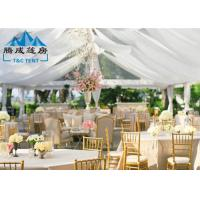 Quality 1000 Seater Wedding Event Tents With White PVC Walling 7.2M Ridge Height for sale