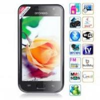 Buy Android 2.2 OS 4.0 Inch Touchscreen TV Quad Band Android Phone with Dual Camera + AGPS at wholesale prices