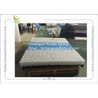 Quality Mattress Pocket Spring Unit With White / Blue Colour Non Woven Fabric Cover for sale