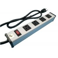 Quality Metal 4 Way Multi Outlet Power Strip With On Off Switch For Workshop / Office for sale