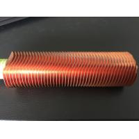Quality CuNi 90/10 Shape Type Heat Exchanger Fin Tube OD25.4 X 1.5WT L Finned Copper Tubing for sale