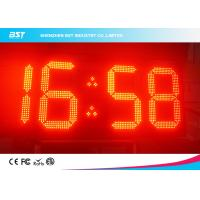 Quality Double Sided Red Led Clock Display For Outdoor Sports , High Accuracy for sale