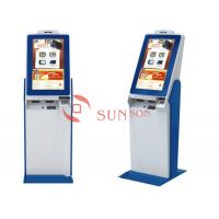 Buy Large Commercial Self Service Banking Kiosk Touch Screen With Camera Printer at wholesale prices
