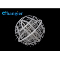 China Fiber Active Filler Packing PP Bio Ball Filter Media For Water Treatment on sale