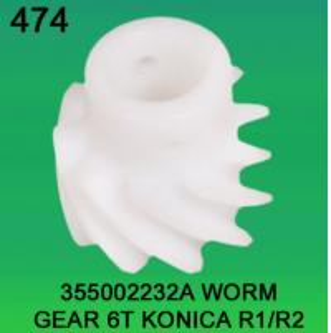 Quality 355002232A / 3550 02232A WORM GEAR TEETH-6 FOR KONICA R1,R2 minilab for sale