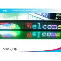 Quality Indoor RGB Full Color LED Moving Message Display Programmable Signs for sale