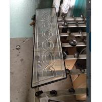 Quality custom shape  decorative glass panel with chrome caming for sale