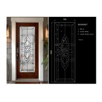 Quality Arctic Patterned Window Door Suit Decorative Frosted Glass Brass / Nickel / Patina for sale