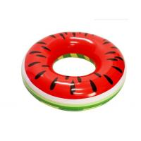 "Watermelon Inflatable Swim Ring Massive Size 46"" X 46"" X 10"" Quick Inflation"