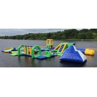 Quality Lake Floating Inflatable Water Park / Inflatable Water Games For Adults And Kids for sale