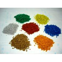 Quality Kindergarten EPDM Rubber Granules , 2-4mm / 3-5mm Vivid Color Recycled Rubber Crumb for sale