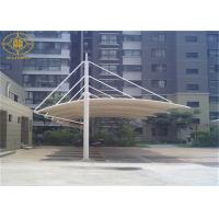 China 24*6M Single Cantilever Portable Car Shade Structures Waterproof UV Resistance on sale