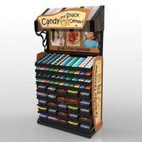Quality Retail Custom Floor Display Stands For Candy Sugar / Snack Advertising for sale