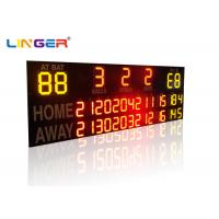 Quality Outside UV Protection 12 / 20 Inch LED Electronic Baseball Scoreboard in Yellow Color for sale