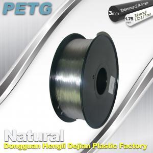 Quality 1.75 / 3.0 mm PETG Filament 3D Printing Transparent Materials  1.0KG for sale