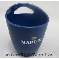 Quality Clear dark blue plastic ice bucket for sale