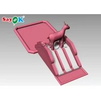China Custom Pink Recyclable 0.55mm Inflatable Pool Water Slide on sale
