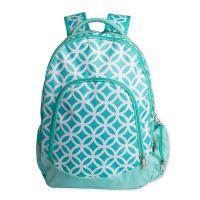 Quality Green Kids School Book Bags / Laptop School Bags For High School Students for sale