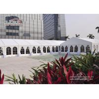 China Strong Frame  10x20m  Aluminum Wedding Marquee Tent With Clear Window Sidewalls for sale