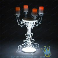 Quality CH (22) crystal Acrylic candle holder for sale