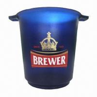 Quality Ice Bucket, Made of PS Plastic, Customized Designs are Accepted for sale