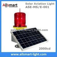Quality 2000cd Red Solar Obstruction Light Aviation Warning Lamp with Solar Panel for Communication Lattice Tower High Building for sale