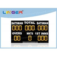 Quality Waterproof LED Cricket Scoreboard UV Protection Yellow Color 110V ~ 240V for sale