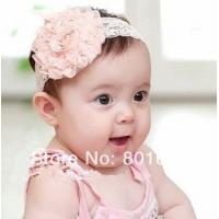 Quality new Lace Flower Newborn Baby Infant Toddler Kid Girl Headband Christening Elastic for sale