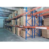 Quality Multi tier CE Certificate Storage Racking Systems Dark Bule / Orange Red for sale