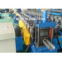 Quality Full Auto Steel Profile Frame Roll Forming Machine Hydraulic Punching for sale