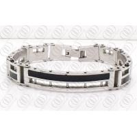 Quality Black And Silver 316L Stainless Steel Fashion Bracelet For Men for sale
