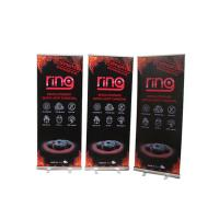 Quality Floor Standing Roll Up Banner Display Vertical Easy Carry Professional Artwork for sale