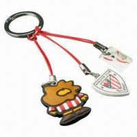Quality Silicon Rubber 3D Key Chain/Rubber Key Ring, Customized Designs, Sizes Welcomed, Ideal for Promotion for sale