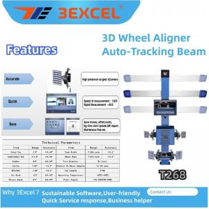 Quality Turntables Auto Trucking Beam T268 3d Wheel Alignment for sale