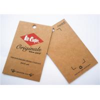 Quality Durable Clothing Label Tags Logo Printing Cardboard Hang Tags for sale
