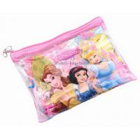 Quality Colourful Plastic Zipper Bags Cartoon Printed PVC Vinyl For Pupil Stationery for sale