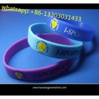 Quality cheap selling Purple Silicone Bracelet with customized print logo for sale