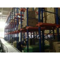 Quality Dark Blue Drive In Pallet Racking System , Heavy Duty Industrial Metal Shelving For Raw Materials for sale