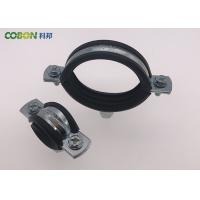 Heavy Duty Cast Iron Pipe Clamps With Rubber , M8 / M10 Rubber Lined Split Pipe for sale