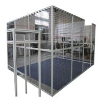 Quality Cnc Machine Protector Industrial Production Line Fence Cap Fixed Gear Aluminum Glass Door And Window Frame for sale