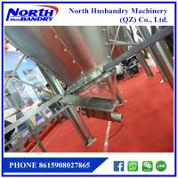 Quality poultry ground raising main feeding line with hot galvaized hopper pan silo for sale