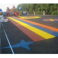 Quality Pour In / Wet Pour Epdm Rubber Flooring , Colorful Rubber Granules Flooring Playground Cover  for sale