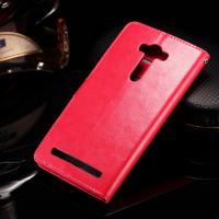 Buy Asus Zenfone 2 Laser Cell Phone Leather Wallet Case Crazy Horse With Custom Logo at wholesale prices
