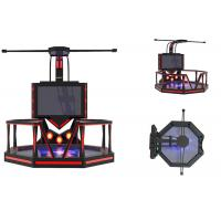Quality Theme Park Virtual Reality Game Simulator Steel Material Shooting Game Machine for sale