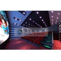 Quality 52 Seats 6D Cinema Equipment With 2 Person / Seat Red Motion Chairs For Technology Museum for sale