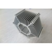 Quality LED Round Sunflower Extruded Heat Sink Profiles With Silver Anodized / Tapping for sale