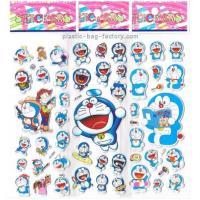 Quality Doraemon Characters Cute Japanese Puffy Stickers PVC Material Eco Friendly for sale