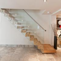 Buy Wooden stair Glass Staircase / Build Floating Stair at wholesale prices